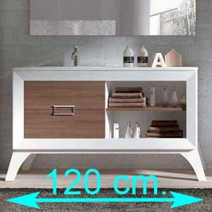 Muebles de baño 120 cm.