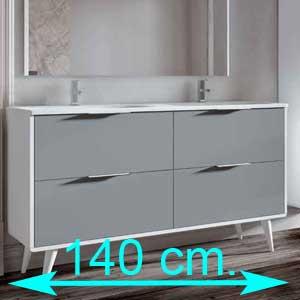 Muebles de baño 140 cm.