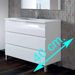 Muebles de baño fondo 40 cm.