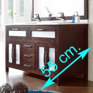 Muebles de baño fondo 55 cm.