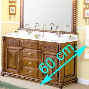 Muebles de baño fondo 60 cm.