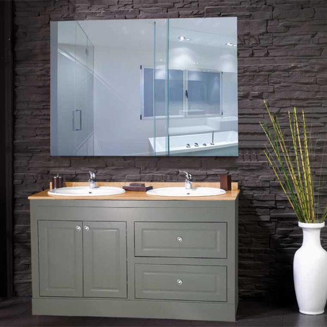 Mueble de Baño Bimba 140 cm. OFERTA. Encimera Mármol Micro Marfil