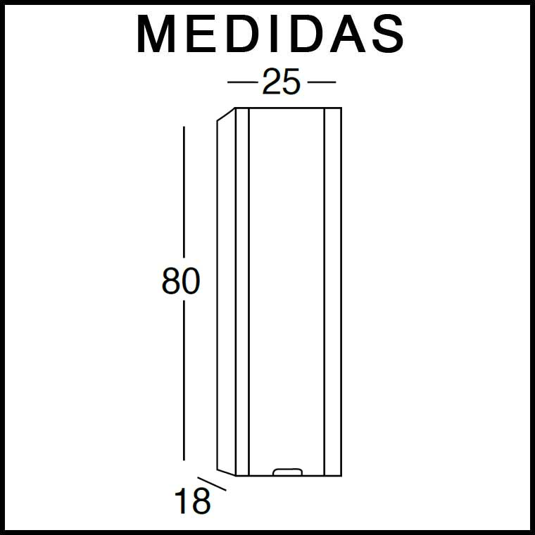 Medidas Mueble Auxiliar Baño de Colgar Ángeles 80 cm.