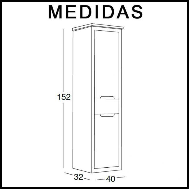 Medidas Mueble Auxiliar Baño Suspendido Ángeles