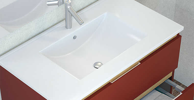 Lavabo Centrado para Mueble de baño Sarah