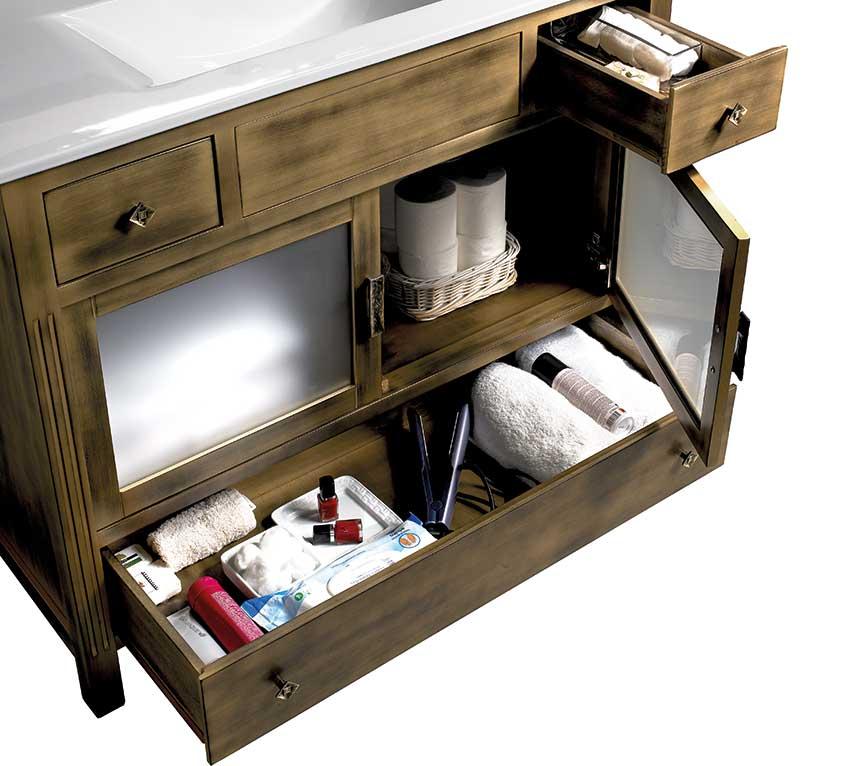 Muebles de Baño con Guías Metálicas Gacela de Indaux