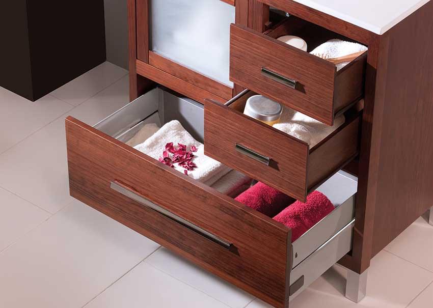 Muebles de Baño con Guías Hettich e Indaux