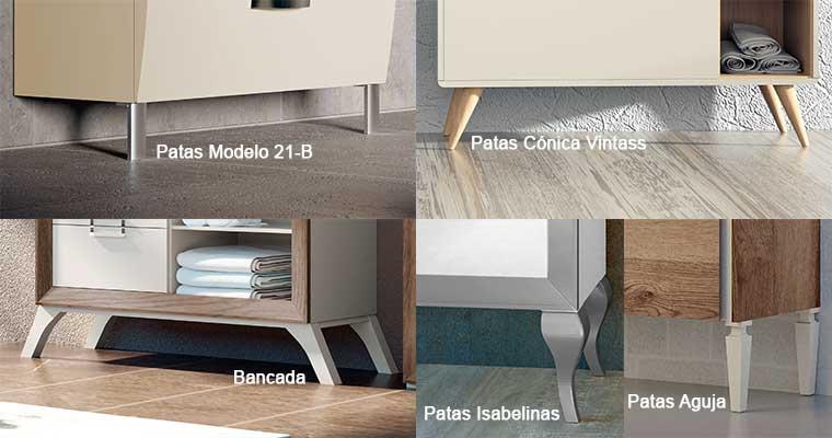 Patas y Bancada para Muebles de Baño