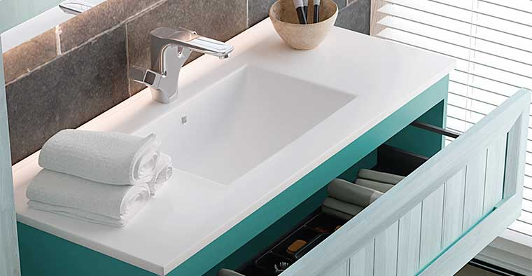 Lavabo Centrado para Mueble de baño Terra