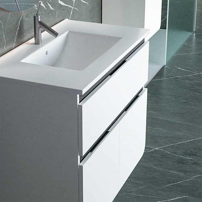 Mueble de Baño Lusso 90 cm. con Espejo Anti Vaho. Detalle