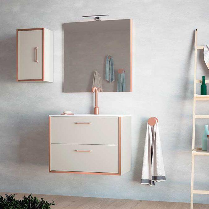 Mueble de Baño Lusso con espejo Recto