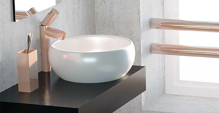 Lavabo sobre encimera Circular para Mueble de baño Aqua