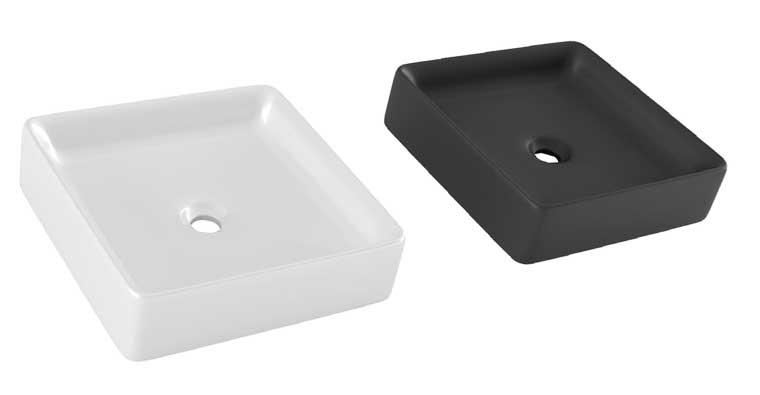 Lavabos sobre encimera Square Blanco y Negro
