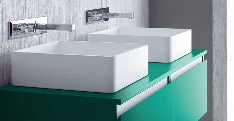 Lavabos sobre encimera Square para Mueble de baño Aqua
