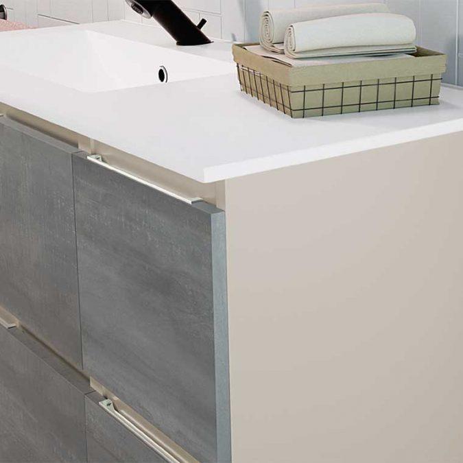 Mueble de Baño Aqua 4 cajones suspendido 100 cm. 02 detalle