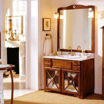 Conjunto Mueble de baño Alba 95 cm. de Taberner. Acabado Rústico Inglés