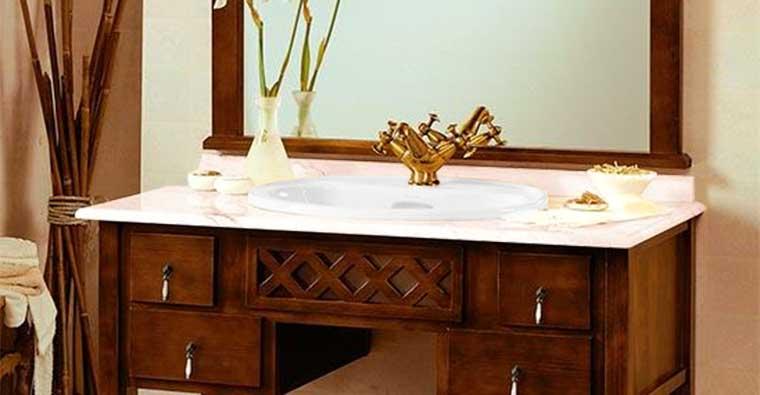 Conjunto Toscano con lavabo de encastrar semejante al Java de Roca