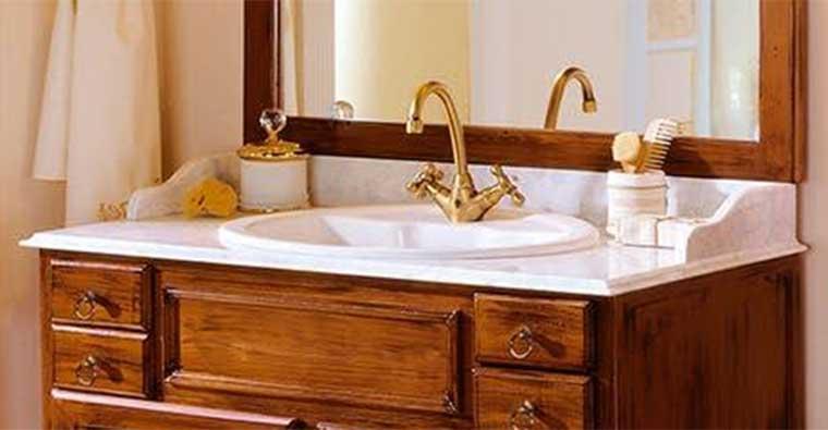 Mueble de baño Alba de Taberner con encimera de mármol Italiano