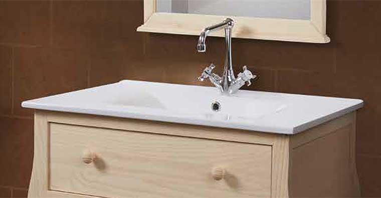 Lavabo encimera cerámica para Mueble de baño Home