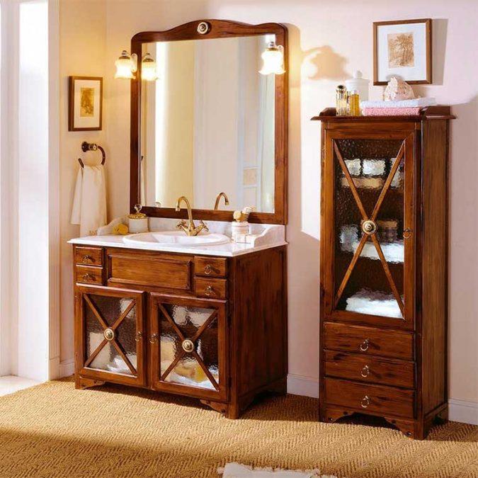 Mueble de baño y Auxiliar de pie Alba de Taberner.
