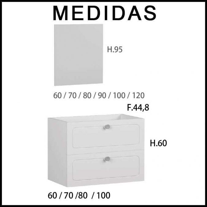 Medidas Muebles de Baño Dalma