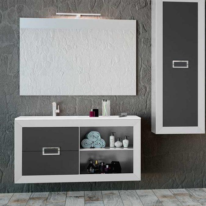 Muebles de Baño L-Gant 100 cm. 2 cajones más hueco con balda