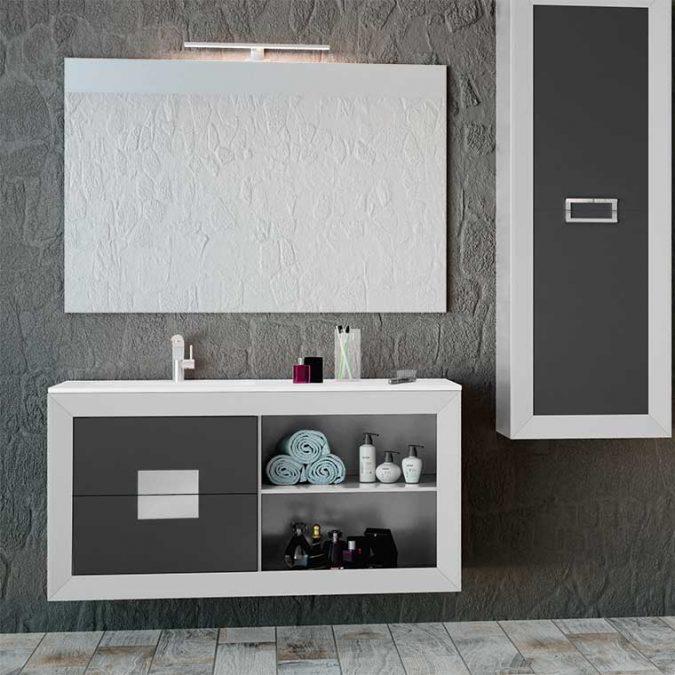 Mueble de Baño L-Gant Kuadrus 2 Cajones más hueco con balda