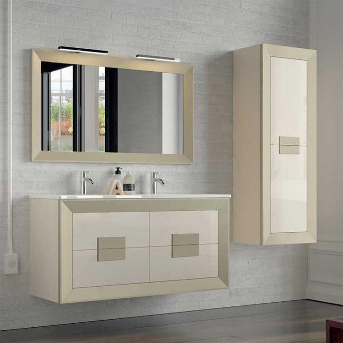 Mueble de Baño L-Gant Kuadrus 4 Cajones