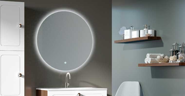 Espejo de baño modelo Circle Retroiluminado con Antivaho opcional