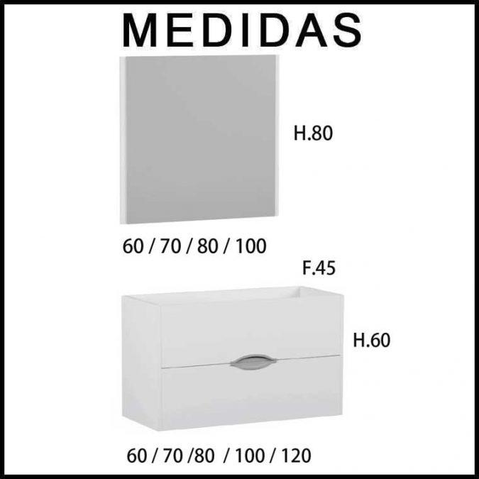 Medidas Muebles de Baño Mar de Campoaras