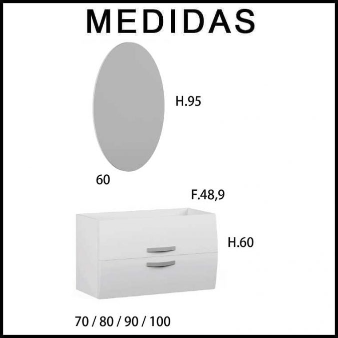 Medidas Muebles de Baño Murano
