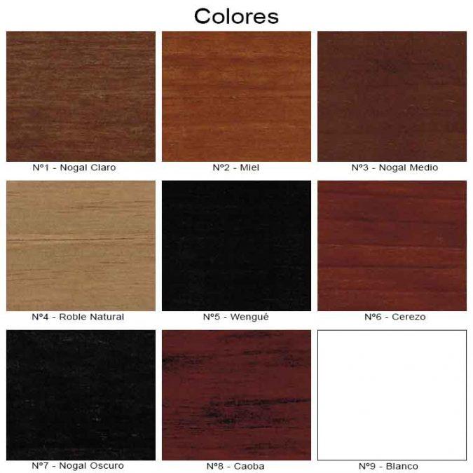 Colores Mueble de baño Zuri
