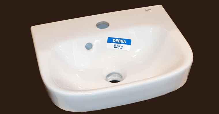 Detalle Lavabo Debba de Roca para Mueble de baño Zuri 55 cm.