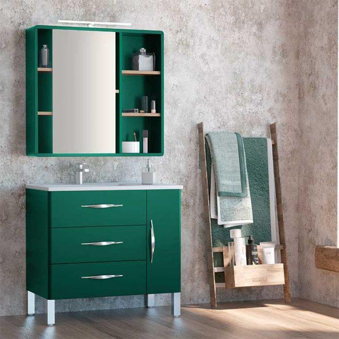 Mueble de Baño Tecia 80 cm. 3 cajones 1 puerta con Camerino Vintass