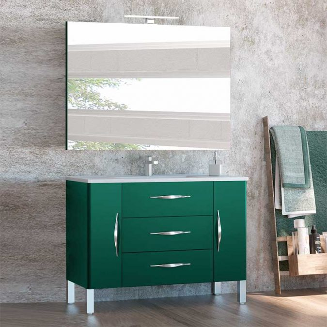 Mueble de Baño Tecia 80 cm. 3 cajones 2 puertas