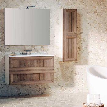 Mueble de Baño Terra con espejo Liso y aplique